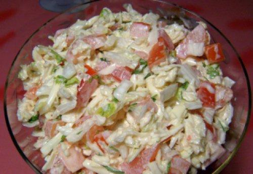 Рецепты салата с пекинской капустой с фото